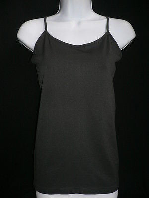 New Women Charcoal Basic Tank Top Sexy Camisole Spaghetti Straps Plus Size Medium Large - alwaystyle4you - 1