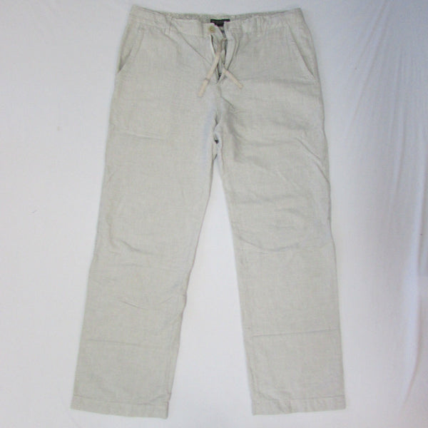 White Blue Pin Stripe Cotton Casual Used Pants Classic Banana Republic Men Fashion Size 34 / 35