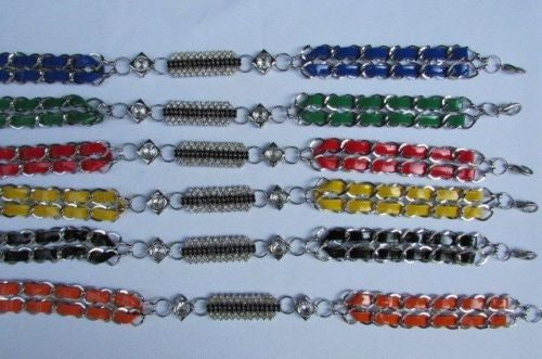 Silver Metal Chains Black Blue Red Orange Yellow Green Shiny Fabric + Rhinestones Hip High Waist Thin Belt New Women Fashion Accessories S - XL - alwaystyle4you - 8