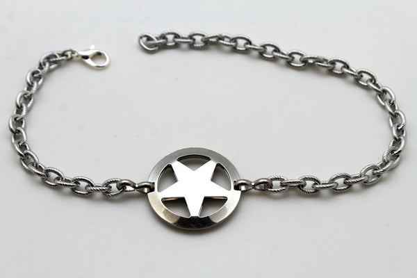 Gold / Silver Metal Boot Bracelet Chains Links Texas Star New Women Fashion Bling Jewelry Rodeo Style - alwaystyle4you - 3