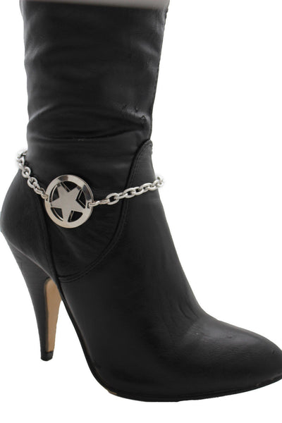 Gold / Silver Metal Boot Bracelet Chains Links Texas Star New Women Fashion Bling Jewelry Rodeo Style - alwaystyle4you - 19