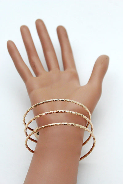 Gold / Silver Metal Cuff Bracelet Bangle Ball String Spring Adjustable New Women Fashion Jewelry Accessories - alwaystyle4you - 11