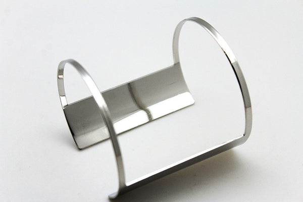Silver Metal Cuff Bracelet Light Retro Cut Outs Adjustable New Women Fashion Jewelry Accessories - alwaystyle4you - 10