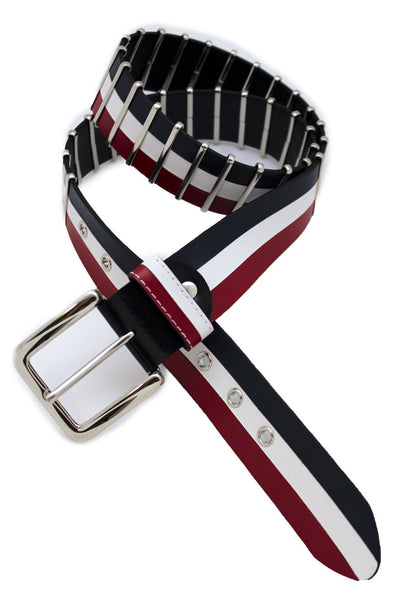 Blue Red White Faux Leather Hip Waist Belt America USA Flag New Women Fashion Accessories S M - alwaystyle4you - 2