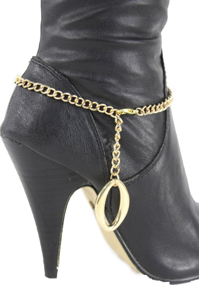 Gold Metal Boot Chain Bracelet Anklet Link 0 O Shoe Charm New Hot Women Fashion Jewelry - alwaystyle4you - 7