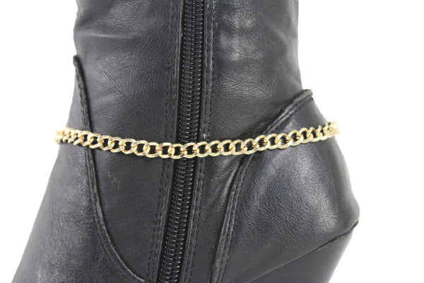 Gold Metal Boot Chain Bracelet Anklet Link 0 O Shoe Charm New Hot Women Fashion Jewelry - alwaystyle4you - 8