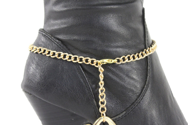 Gold Metal Boot Chain Bracelet Anklet Link 0 O Shoe Charm New Hot Women Fashion Jewelry - alwaystyle4you - 2