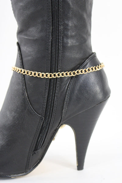 Gold Metal Boot Chain Bracelet Anklet Link 0 O Shoe Charm New Hot Women Fashion Jewelry - alwaystyle4you - 4