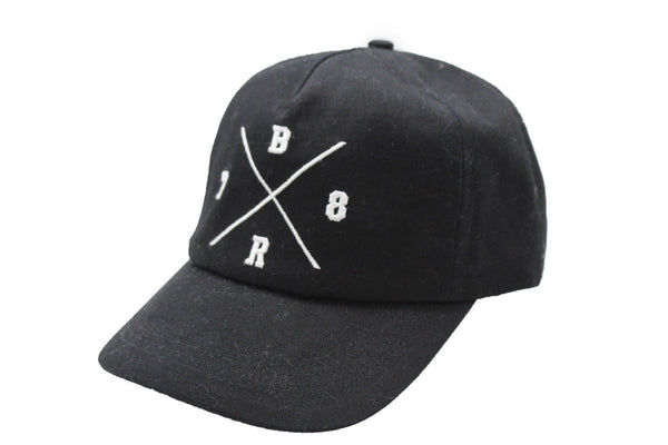 Black White Baseball Cap Hat 78 BR Banana Republic New Men Women Fashion One Size Accessories