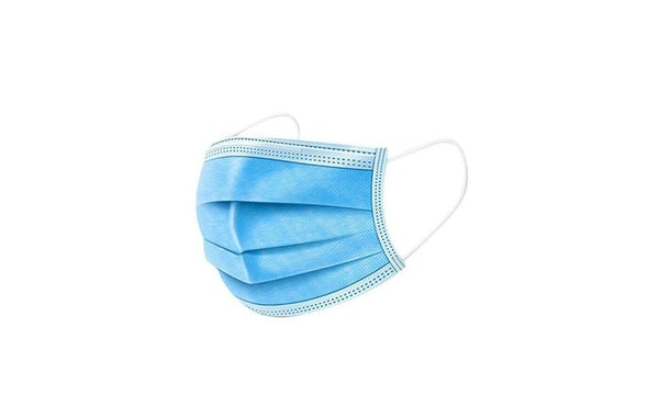50PCS BOX Protective Disposable Face Mask Mouth Nose Cover Easy Wear Fit Light Blue Color