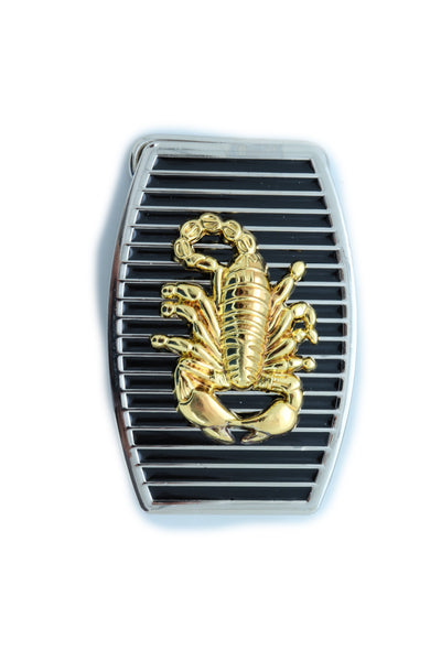 Brand New Men Belt Buckle Silver Metal Western Gold Scorpion Black Color Fashion Jewelry