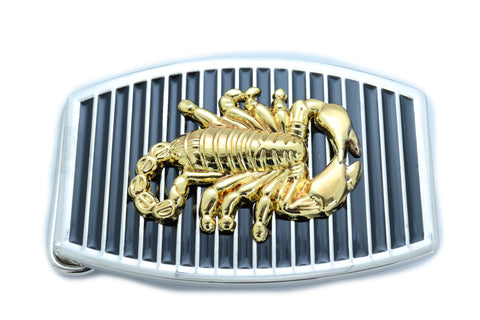 Men Women Belt Buckle Silver Metal Western Gold Scorpion Black Color Fashion Jewelry Casual Look