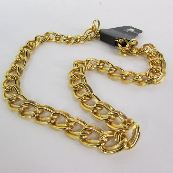 Chunky Gold Heavy Metal Double Chain Links Long Necklace Hip Hop New Men Fashion - alwaystyle4you - 2