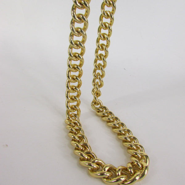 Gold Hip Hop Metal Thick Chains Extra Long Necklace New Men Women Chunky Gangster Fashion - alwaystyle4you - 4