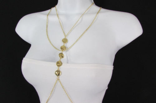 New Women Gold Body Chain Classic Circles Long Necklace Sexy Fashion Jewelry - alwaystyle4you - 3