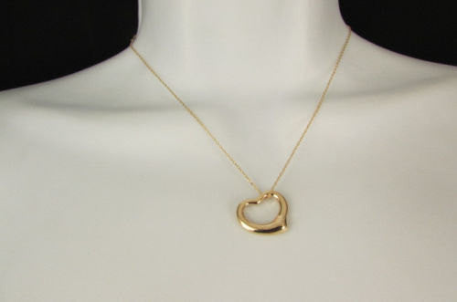 New Women Mini Metal Heart Pendant Chain Fashion Necklace Gold / Silver Love - alwaystyle4you - 5