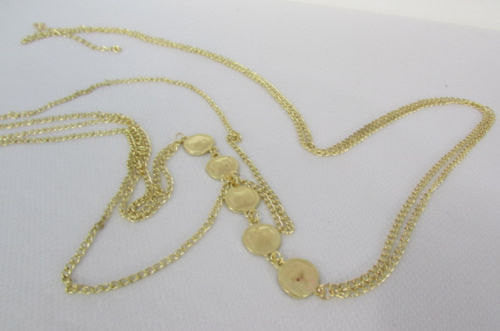 New Women Gold Body Chain Classic Circles Long Necklace Sexy Fashion Jewelry - alwaystyle4you - 4