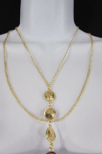 New Women Gold Body Chain Classic Circles Long Necklace Sexy Fashion Jewelry - alwaystyle4you - 2