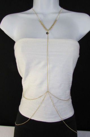 New Women Classic Style Thin Gold Metal Body Chain Necklace Hot Fashion Jewelry - alwaystyle4you - 2