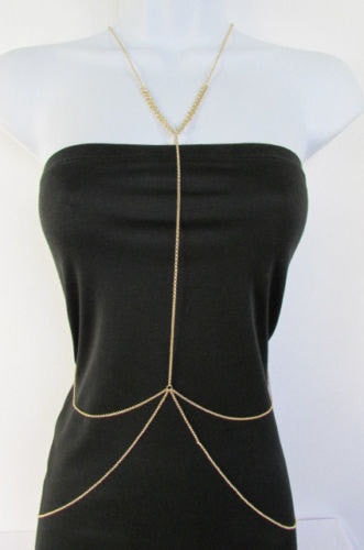 New Women Classic Style Thin Gold Metal Body Chain Necklace Hot Fashion Jewelry - alwaystyle4you - 1