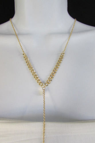 New Women Classic Style Thin Gold Metal Body Chain Necklace Hot Fashion Jewelry - alwaystyle4you - 4