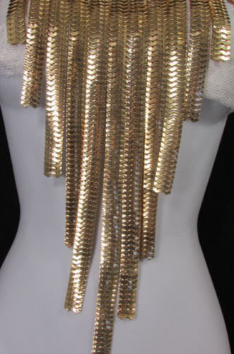 Extra Long New Women Gold Metal Chain Links Fashion Necklace + Matching Earrings Set - alwaystyle4you - 4