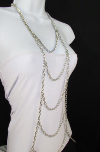 New Women Gold / Silver Body Chain Full Frontal Long Necklace Sexy Fashion Trendy Jewelry - alwaystyle4you - 3
