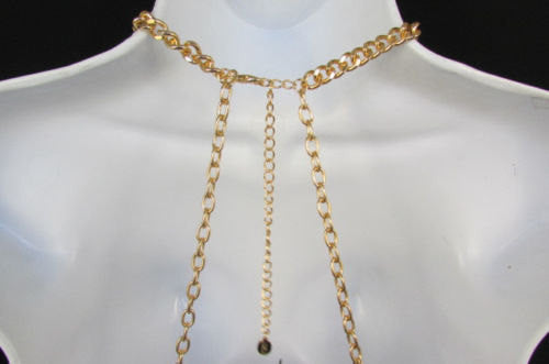 New Women Gold / Silver Body Chain Full Frontal Long Necklace Sexy Fashion Trendy Jewelry - alwaystyle4you - 5