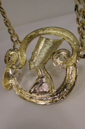 New Women Gold Metal Chain Fashion Necklace Big Egyptian Queen Snake Pendant - alwaystyle4you - 5