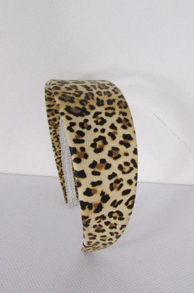 Brand New Women Animal Print Leopard Chic Head Band Trendy Fashion Jewelry Wide Beige Brown - alwaystyle4you - 2
