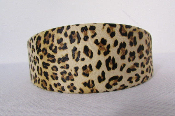 Brand New Women Animal Print Leopard Chic Head Band Trendy Fashion Jewelry Wide Beige Brown - alwaystyle4you - 3
