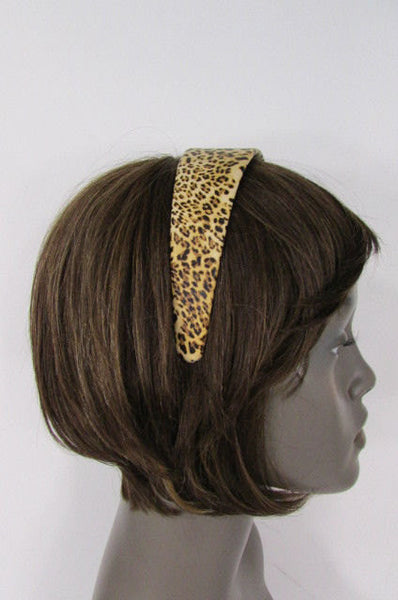 Brand New Women Animal Print Leopard Chic Head Band Trendy Fashion Jewelry Wide Beige Brown - alwaystyle4you - 5