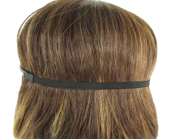 Brand New Women One Size Gold Gunmetal Mesh Metal Head Band Chain Fashion Jewelry Elastic Band - alwaystyle4you - 3
