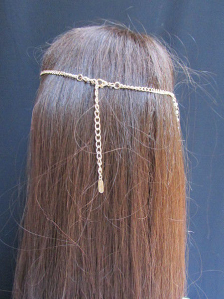 Brand New Women Chic Gold Metal 80'S Stylish Long Head Chain Lightweight  Imitation Pearls Beads Fashion Jewelry - alwaystyle4you - 2