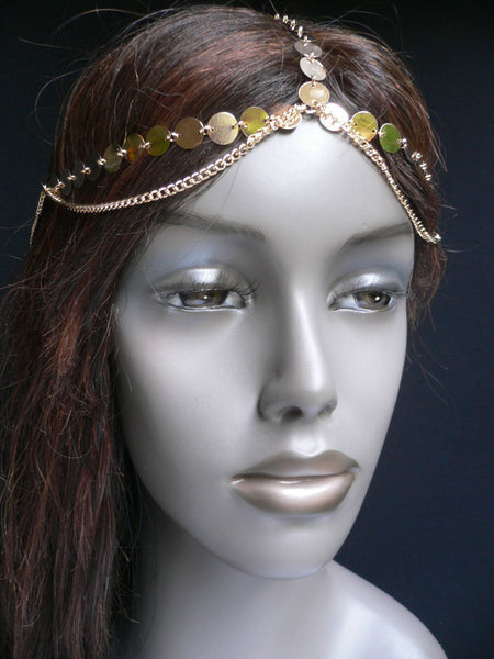 One Size New Women Gold Chic Headband Head Waves Metal Chain Jewelry Hair Piece Trendy Fashionable - alwaystyle4you - 2