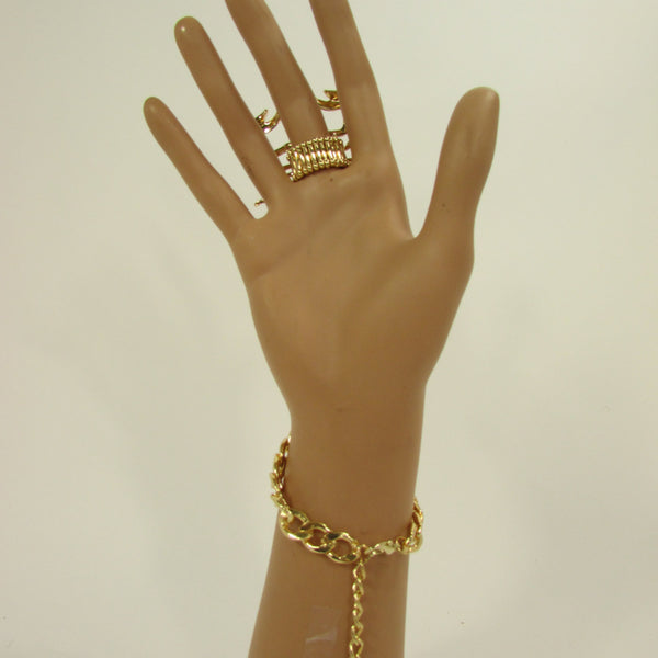 New Women Gold Metal Long Scorpion Connected Hand Chain Classic Fashion Bracelet Finger Slave Ring Rhinestones Wedding Body - alwaystyle4you - 5