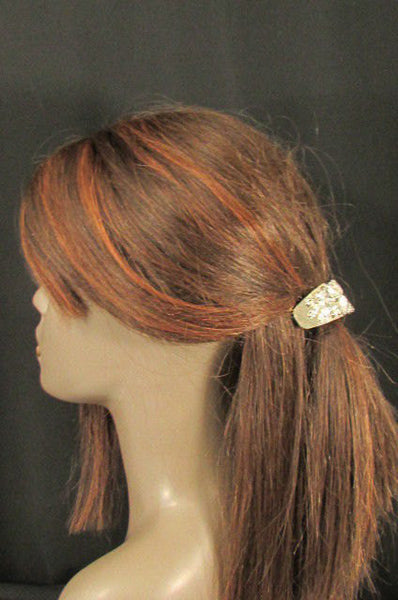 New Women Gold Rhinestons Fashion Metal Head Ponytail  Jewelry Hair Accessories Wedding - alwaystyle4you - 4