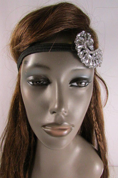 New Trendy Rhinestone Silver Women Fashion Metal Side Head Band Forehead Jewelry Hair Accessories Wedding - alwaystyle4you - 4