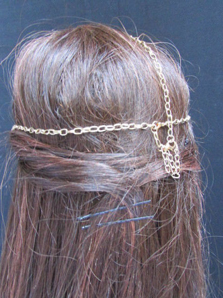 New Gold Women Fashion Multi Circlet Coin Bead Metal Head Chain Forehead Fashion Jewelry Hair Accessories - alwaystyle4you - 3
