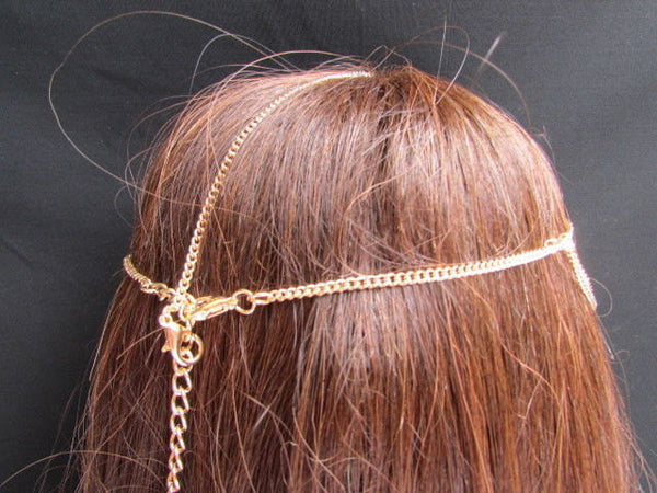 Brand New Gold Women Fashion Multi Circlet Coin Bead Metal Head Chain Forehead Fashion Jewelry Hair Accessories Beach Party - alwaystyle4you - 3