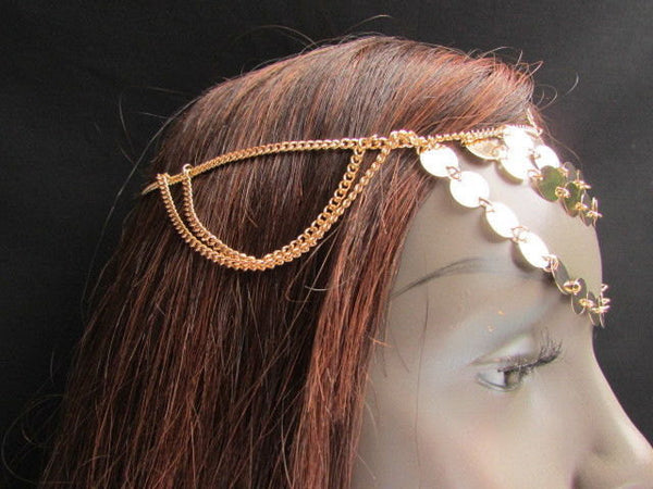 Brand New Gold Women Fashion Multi Circlet Coin Bead Metal Head Chain Forehead Fashion Jewelry Hair Accessories Beach Party - alwaystyle4you - 5