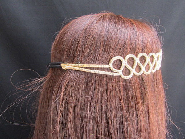 New Rhinestone Gold Women Fashion Metal Head Band Elegant Style Forehead Jewelry Hair Accessories - alwaystyle4you - 4