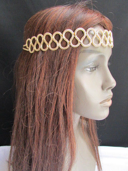 New Rhinestone Gold Women Fashion Metal Head Band Elegant Style Forehead Jewelry Hair Accessories - alwaystyle4you - 5