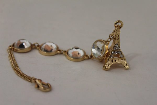 Gold Eiffel Tower Back Pendant Necklace Metal Chains New Women Fashion Jewelry - alwaystyle4you - 3