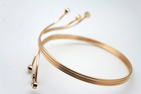 Gold Metal Cuff High Arm Bracelet Wrap Around Retro Silver New Women  Fashion Accessories Jewelry - alwaystyle4you - 3