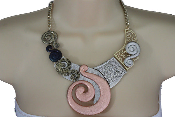 Gold Silver Copper Metal Chain Snail PendantNecklace New Women Fashion + Earrings Set - alwaystyle4you - 13