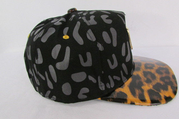 Black Brown New Women Men Baseball Cap Fashion Hat LEOPARD Print - alwaystyle4you - 11