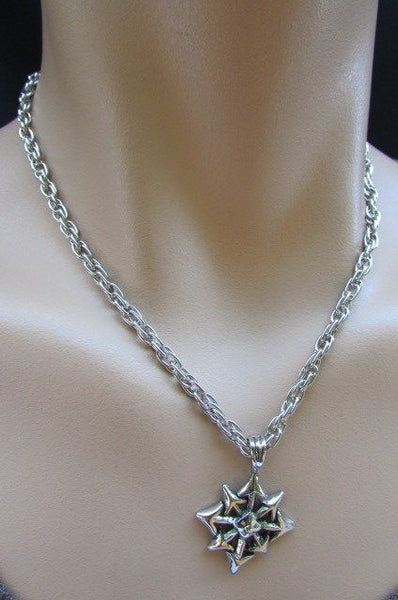 Chic Trendy Style Silver Chain Necklace Trible Pendant New Men Fashion #4 - alwaystyle4you - 3
