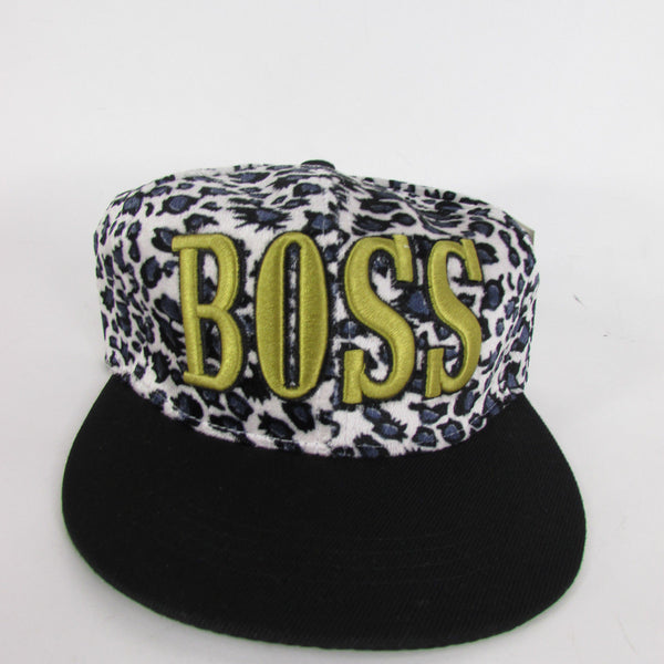 Gold Black / White Black New Women / Men Denim Black Baseball Cap Fashion BOSS Hat Animal Print Leopard - alwaystyle4you - 4