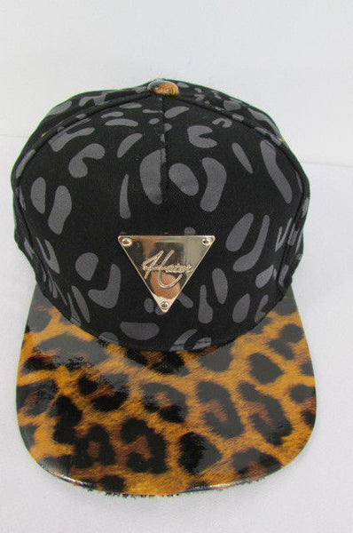 Black Brown New Women Men Baseball Cap Fashion Hat LEOPARD Print - alwaystyle4you - 14